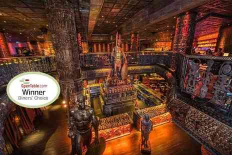 Shaka Zulu - Three course meal with a sparkling cocktail each and club entry for two people - Save 0%