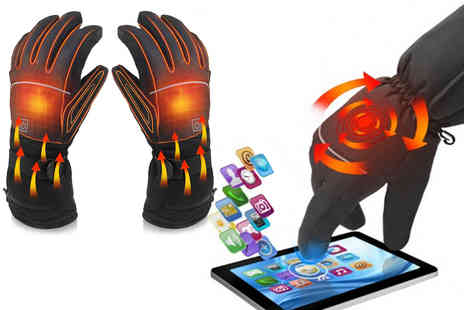 Spezzeee - Pair of electric waterproof heated gloves with touch screen sensor - Save 0%