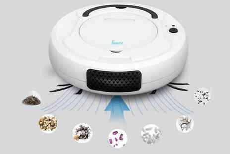 Secret Plums - Smart Rechargeable 360° Cleaning Robot Choose from 3 Colours - Save 50%