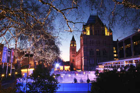 OMGhotels - Overnight London stay with breakfast and Christmas ice skating at the Natural History Museum - Save 0%