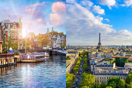 Weekender Breaks - Four nights Paris and Amsterdam city break with a train transfer and return flights - Save 33%