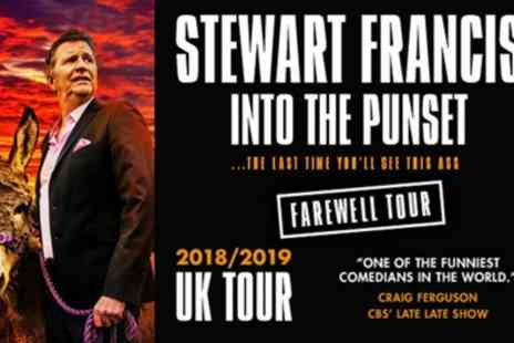 Stewart Francis - One best available seated ticket to show from 31st October To 5th December - Save 55%