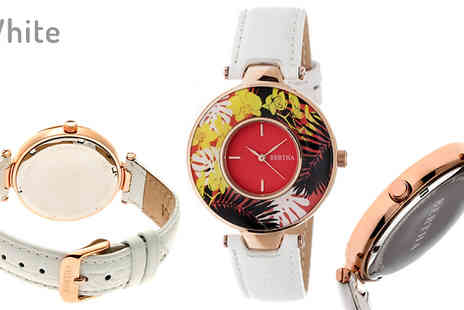 Ideal Deal - Bertha Elizabeth Tropical Flower Luxury Watch Choose from 3 Styles - Save 88%