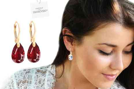 Groupon Goods Global GmbH - Ah Jewellery Earrings with Crystals from Swarovski - Save 88%