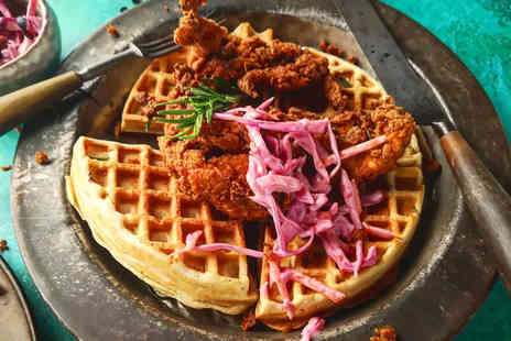 Impossible Manchester - Chicken and waffles for two people - Save 33%