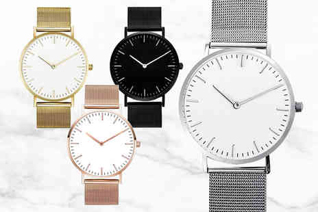 hey4beauty - Womens stainless steel band quartz watch choose your colour - Save 60%