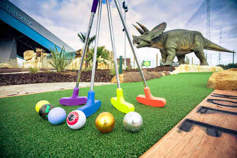 Trafford Golf Centre - Child ticket for 18 holes of Dino Falls Adventure Golf, 40 balls on the driving range and club hire - Save 48%