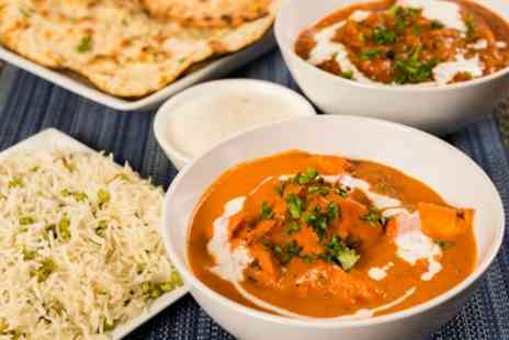 Desi Downtown - Two Course Indian Meal with Rice and Naan for Two or Four - Save 54%