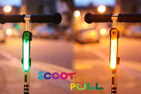 Scoot n Pull - Scoot Beamz Keep Your Kids Safe with Bright Scooter Lights Plus Free Delivery - Save 50%