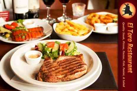 El Toro Restaurant - Argentinean Steak Meal For Two Including Either Starters or Desserts - Save 61%
