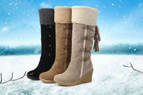 My Brand Logic - Pair of womens knee high warm boots - Save 62%