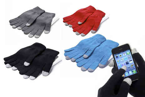 Pearl Fashion - Pair of touch screen gloves choose your colour - Save 90%