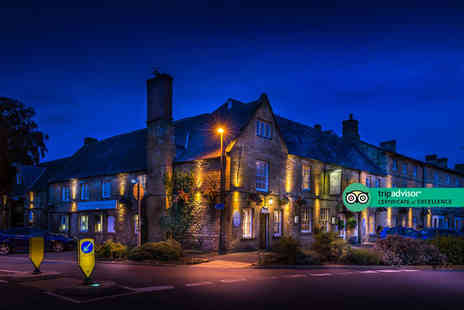 The White Hart Royal Hotel - Overnight Cotswolds break for two people with breakfast, bottle of Prosecco and 12pm late check out - Save 47%