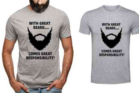 Groupon Goods Global GmbH - With Great Beard Tshirt - Save 81%