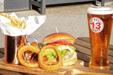 The Corner House - Burger and Beer for Two - Save 41%