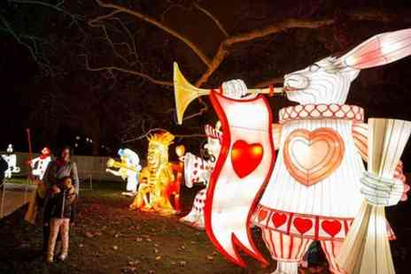 Lightwater Valley Theme Park - Alice in Winterland Giant Lantern Trail 2019 - Save 0%
