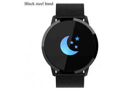 Secret Plums - Bluetooth Smart Watch With Heart Rate Monitor Choose from 5 Colours - Save 69%