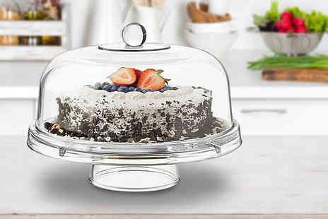 Eurotrade - Multi functional clear cake stand bowl - Save 0%