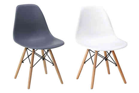 Eurotrade - Set of four retro Eiffel dining chairs - Save 68%
