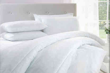 E Home Store - 15 tog hollowfibre duvet and four pillows choose from four sizes - Save 63%