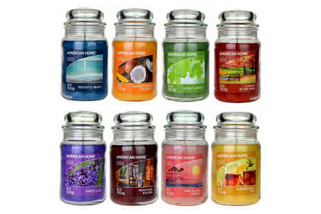 Eurotrade - 19oz Yankee Candle in a glass jar choose from 17 fragrances - Save 56%
