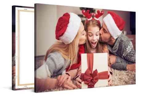 Photo Gifts - Personalised Canvas in Choice of Sizes - Save 89%