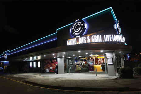 Grosvenor Casinos - Two course dining with a drink, gaming and a £20 enhanced bet - Save 40%