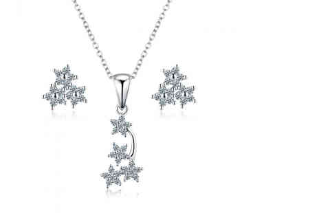 Sreema London - Shooting stars necklace and earrings set - Save 63%