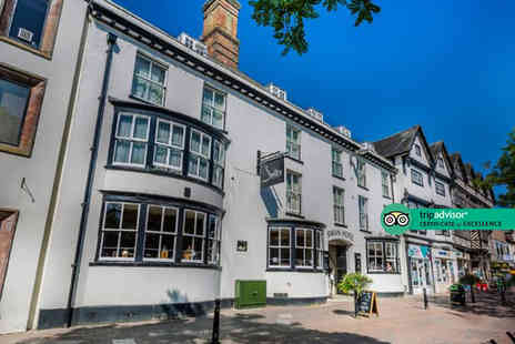 The Swan Hotel - Four Star Overnight Stafford stay for two people with breakfast, a bottle of Prosecco and late check out - Save 37%