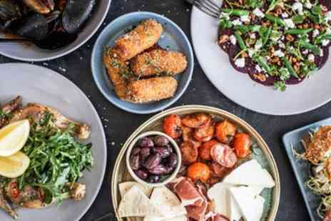 Zuzimo Bar Kitchen Tapas - Two Course Mediterranean Meal with Optional Glass of Wine for Up to Four - Save 44%