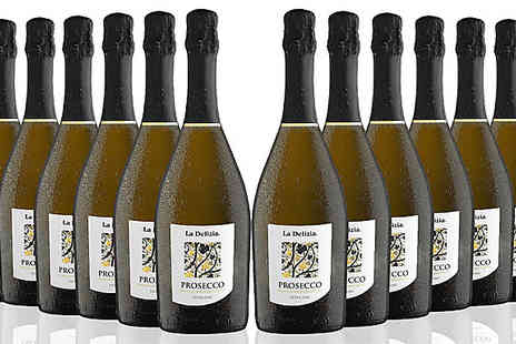 SanJamon - 12 Bottles of La Delizia Prosecco - Save 50%