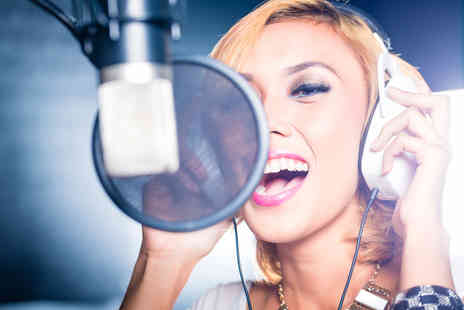 Singing Experience - Up to two hour hit single recording studio experience including a cover photoshoot and CD - Save 90%