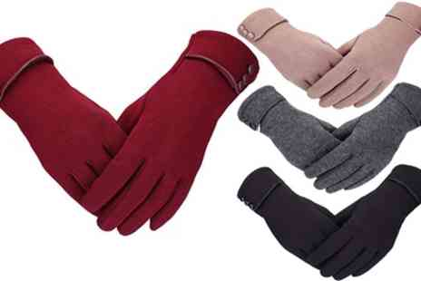 Groupon Goods Global GmbH - One or Two Pairs of Womens Touchscreen Winter Gloves - Save 77%