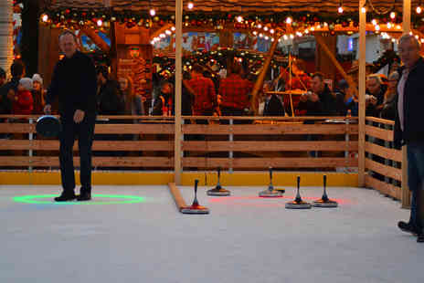 Bristol Christmas Market - One hour of Bavarian curling and a bottle of Prosecco to share for up to four - Save 68%