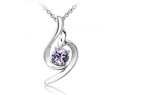 Your Ideal Gift - Lilac swirl ring pendant - Save 0%