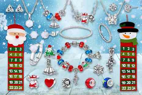 Gemnations - A Christmas jewellery advent calendar made with crystals from Swarovski choose from three options - Save 91%