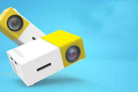 My Brand Logic - Mini yellow Led projector - Save 75%