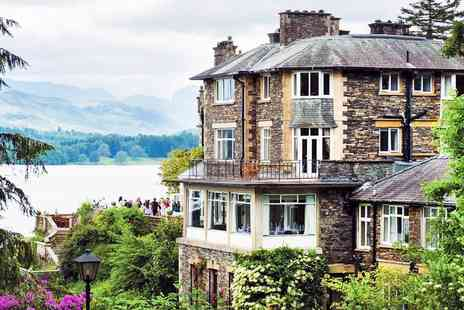 Langdale Chase Hotel - 2 AA Rosette Sunday lunch and wine for Two - Save 40%