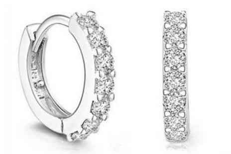Groupon Goods Global GmbH - One or Two Pairs of Silver Plated Hoop Earrings - Save 89%