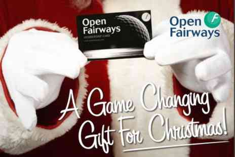 Open Fairways - 12 Month Golf Privilege Card Including Half Price Golf Green Fees - Save 67%