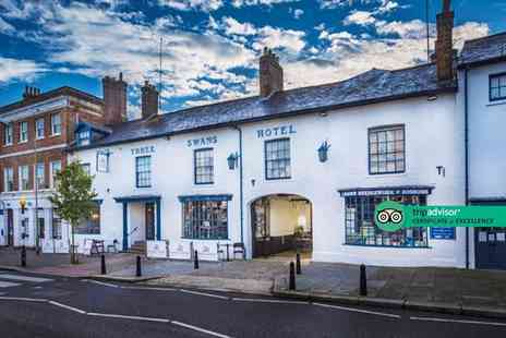 Three Swans Hotel - Overnight Berkshire getaway for two people with breakfast, bottle of Prosecco and late checkout - Save 0%