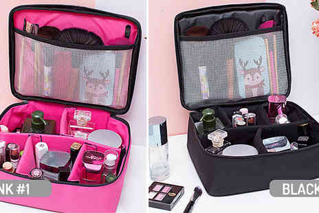hey4beauty - Makeup Organiser Travel Bag Choose from 2 Styles and 2 Colours - Save 50%