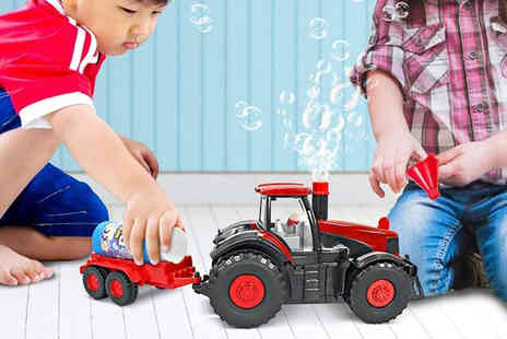 MBLogic - Bubble blowing tractor toy - Save 57%