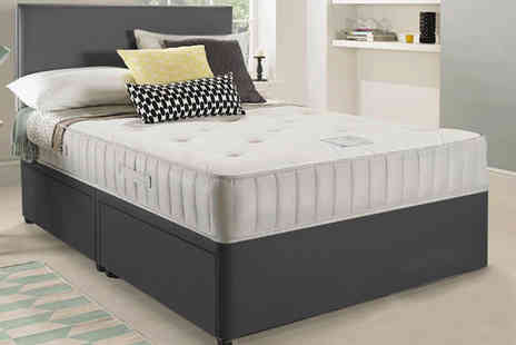 Dining Tables - Single luxury grey fabric divan bed, small double or a double, king or super king sizes - Save 84%