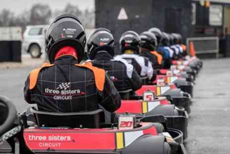 Three Sisters Circuit - 30 Minute Karting Experience for Up to Four - Save 35%