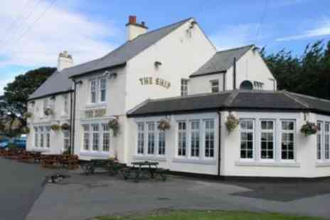 The Ship Eighton Banks - Rump Steak Meal for Two or Four - Save 39%