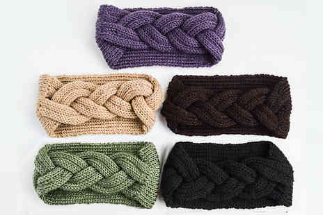 J Star Direct - Knitted Ear Warmer Headband Choose from 5 Colours - Save 62%