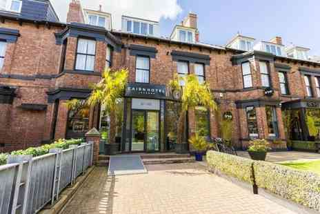 Cairn Hotel Newcastle - Overnight stay for two people with three course dinner, bottle of wine, breakfast and late check out - Save 41%