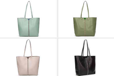 Belle Accessories - Chain front tote bag choose your colour - Save 0%