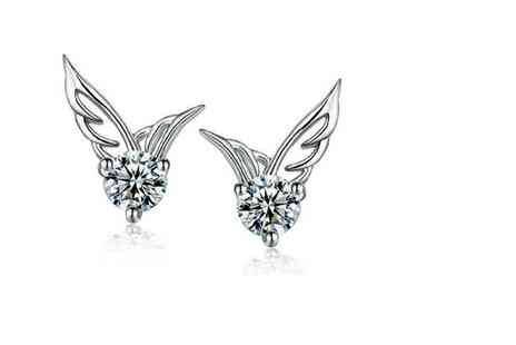 GetGorgeous - Pair of angel wing stud earrings - Save 50%